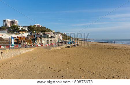 Sunny weather Bournemouth on the Dorset coast to enjoy the winter sun