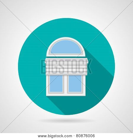 Flat vector icon for arch window with blinds
