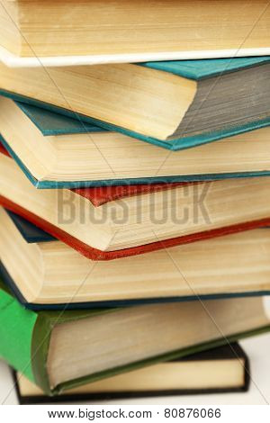 Pile of books, macro view