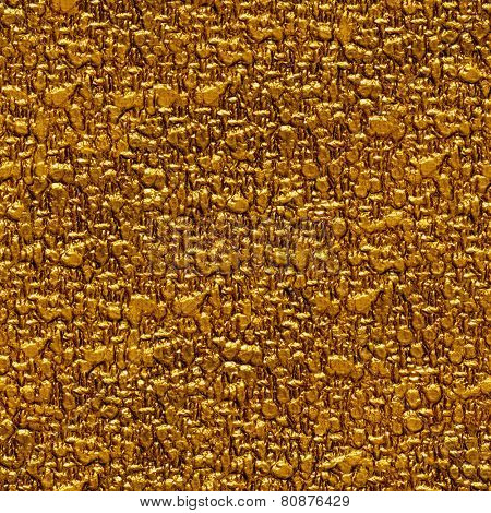 Seamless gold surface background.
