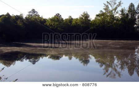 Morning Fog on a Lake