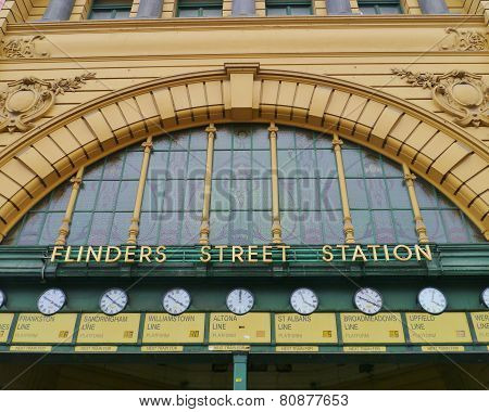 Flindersstreet station in Melbourne