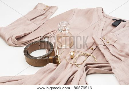 Ladies Dress With Fashion Accessories