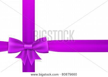 Violet Satin Ribbon Bow