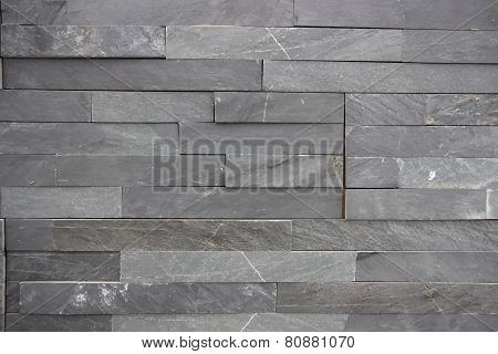 Gray stone bricks wall