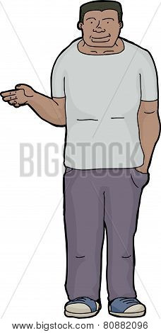 Black Man Holding Nothing