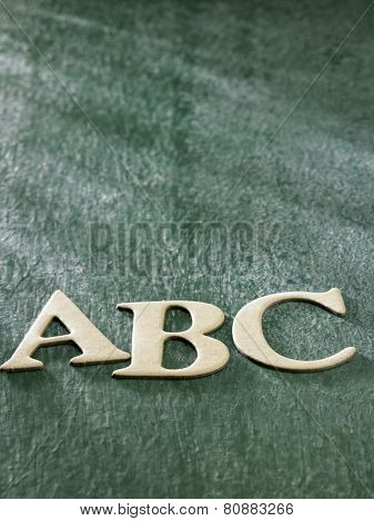 alphabet a b c on the black board