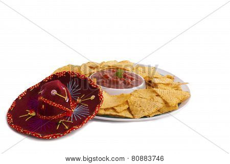 Nacho Sombrero Isolated