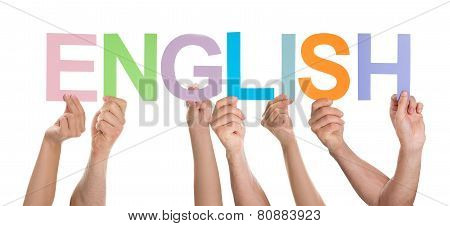 People Together Holding Text English