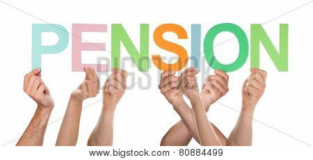 Group Of Hands Holding Letter Pension