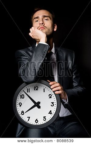 Businessman With Clock