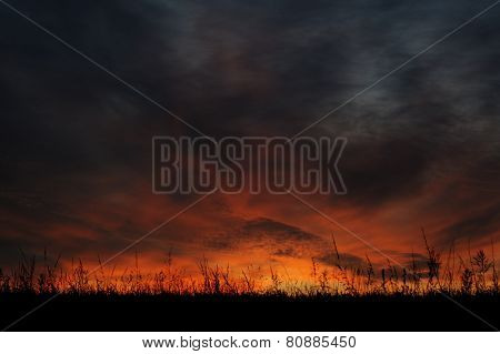 Dramatic Sunrise Sky At Solstice In Russia