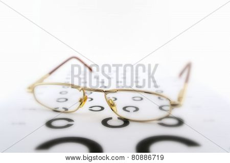 Eyeglasses On The Ophthalmologic Scale