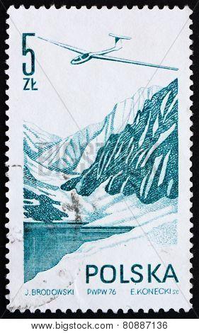 Postage Stamp Poland 1976 Jantar Glider