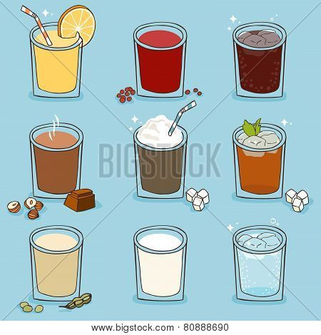 Soft Drinks Set