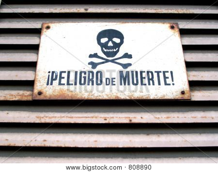 latin danger sign