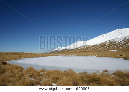 Pukaki  Frozen Lake
