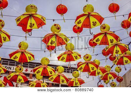 Kuala Lumpur,malaysia,december 18,2013:.chinese New Year Decorations In Chinatown,kuala Lumpur