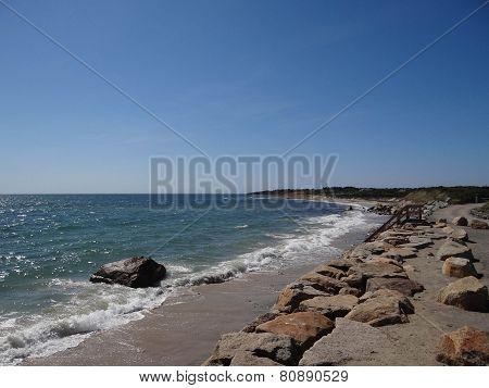 Riprap Wall On Coast