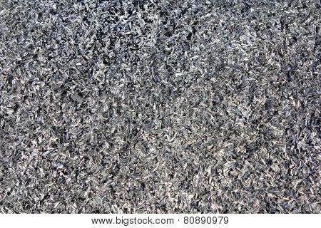 Aluminum Shavings Background