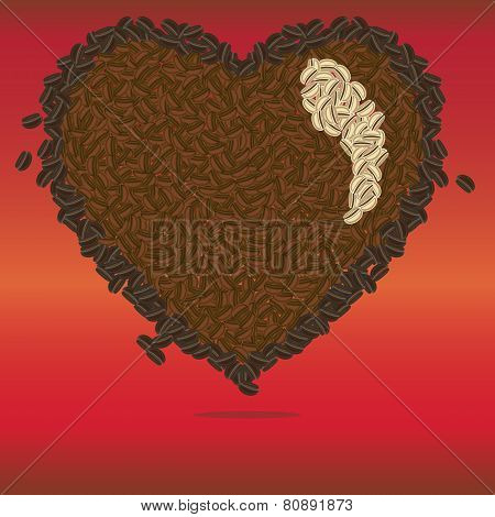 Coffee Heart Pattern