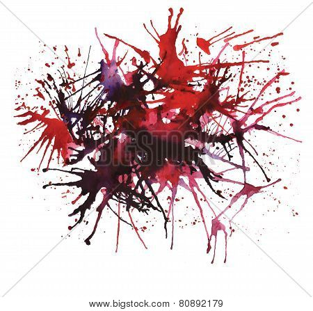 Abstract Watercolor Red Spots