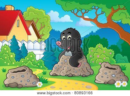 Happy mole theme image 2 - eps10 vector illustration.