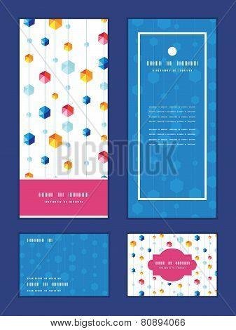 Vector abstract hanging jewels striped vertical frame pattern invitation greeting, RSVP and thank yo
