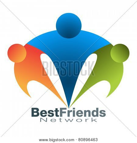 An image of a best friend network icon.