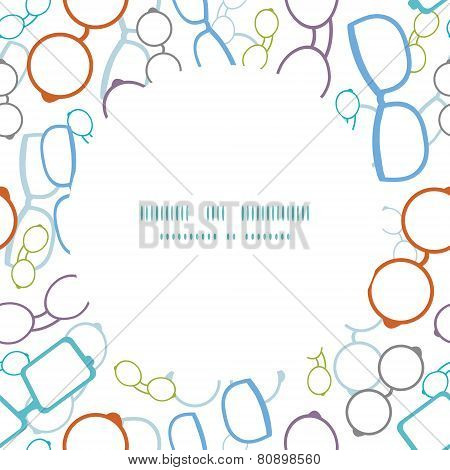 Vector colorful glasses frame seamless pattern background
