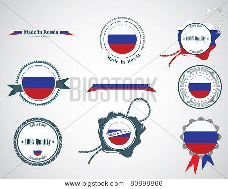 Made in Russia - seals, badges.