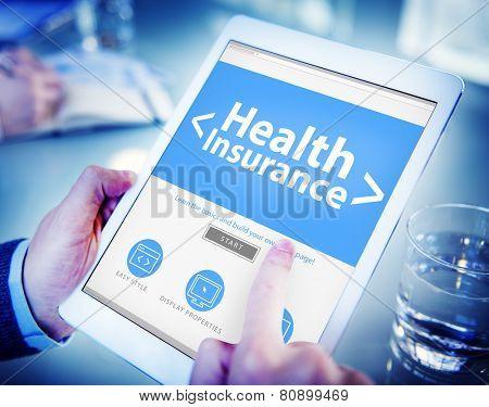 Health Insurance Medical Wellness Business Concept