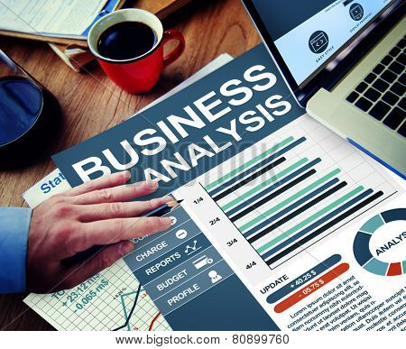 Business Analysis Businessman Working Calculating Thinking Planning Concept