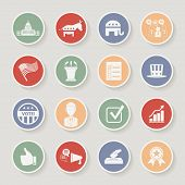 picture of election campaign  - Round political election campaign icons set - JPG