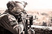 pic of army soldier  - United States Army ranger during the military operation - JPG