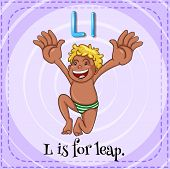 stock photo of leaping  - Illustration of a letter L is for leap - JPG