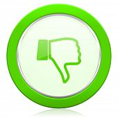 stock photo of dislike  - dislike icon thumb down sign  - JPG