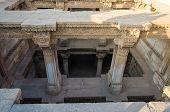 stock photo of pilaster  - Adalaj Stepwell - JPG
