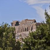 stock photo of parthenon  - east view of Parthenon temple on acropolis of Athens Greece - JPG