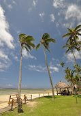 picture of beach hut  - The tranquil beaches of the South Pacific Ocean really are paradise found - JPG