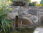 pic of water-mill  - water mill in garden at sunny day - JPG