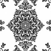 foto of damask  - Pattern in the style of Baroque - JPG