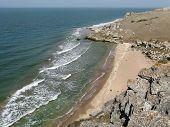 pic of azov  - Beach on the coast of the Azov sea Crimea - JPG