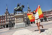 Madrid Tourist Spain Flag poster