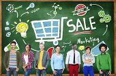 image of revenue  - Sale Sales Selling Finance Revenue Money Income Payment Concept - JPG