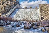 stock photo of collins  - spillway of Seam an Reservoir  - JPG