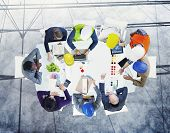 picture of workstation  - Brainstorming Planning Partnership Strategy Workstation Business Adminstratation Concept - JPG