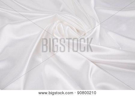 White silk drapery.
