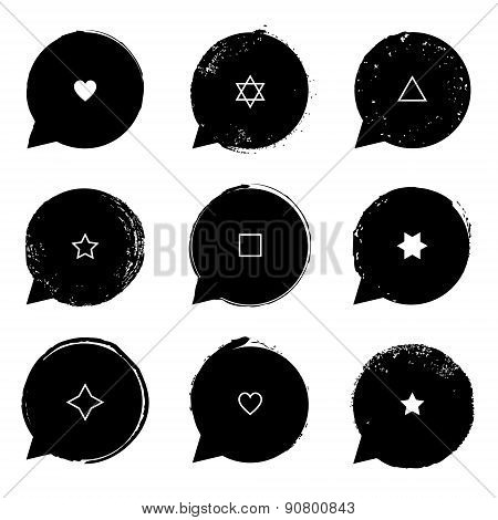 Speech Bubble Set With Symbols