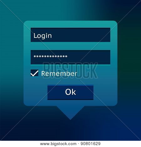 Blue Login Form